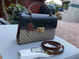 Gucci Torebka podręczna czarny-brązowy Skóra