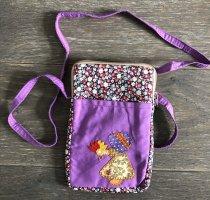 Handmade Pokrowiec na telefon komórkowy fiolet Bawełna