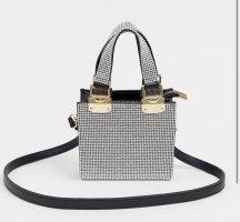 Tasche mit Strassverzierung in Silber