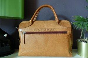 Tasche Spikes & Sparrow braun, Henkeltasche, Businesstasche, Leder, Reißverschluss, neuwertig!