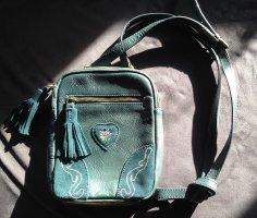 Tasche Trachtentasche  L.Credi in petrol echtes Leder