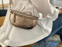 Borse in Pelle Italy Riñonera color bronce