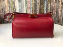 Vintage Bolso con correa carmín-rojo oscuro