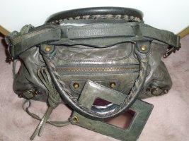 Balenciaga Shoulder Bag grey leather