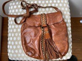 Campomaggi Sac porté épaule cognac-brun cuir