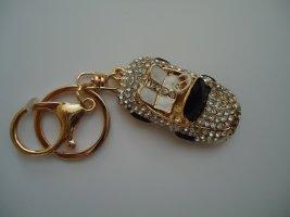 Porte-clés argenté-noir