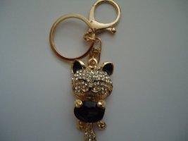 Porte-clés doré-noir