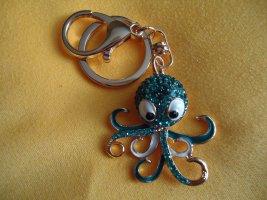 Taschen-Schlüsselanhänger Octopus BLAU