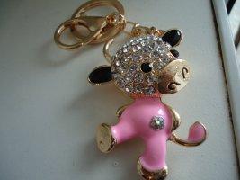 Taschen-Schlüsselanhänger rosa KUH