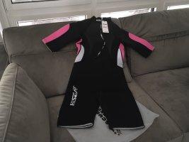 Costume da bagno nero-rosa