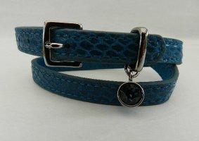 TCM Armband, Wickelarmband blau mir Swarovski Kristall – Neu