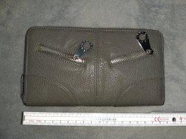 TCM : Geldbeutel grau 10 x 19 cm mit vielen Kartenfächern