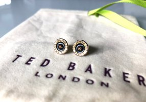 Ted baker Ear stud sand brown-black metal