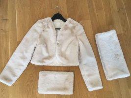 Fur Jacket natural white-cream