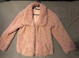Futrzana kurtka w kolorze różowego złota