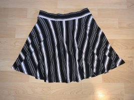 Clockhouse Circle Skirt white-black
