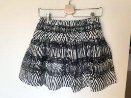 H&M Spódnica z koła czarny-biały