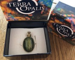Terra Opalis Anhänger Gold 375 mit Opalkatzenauge
