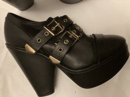 The kooples plateau platform boots Leder schnallen Schuhe ankle Stiefel
