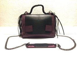Handbag black-purple