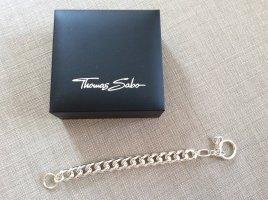 Thomas Sabo Bracelet en argent gris clair tissu mixte