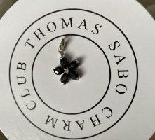 Thomas Sabo Colgante negro-color plata