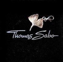 Thomas Sabo Charm Anhänger Schmuck Gingko Blatt Silber
