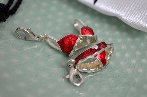 Thomas Sabo Dije rojo-color plata metal