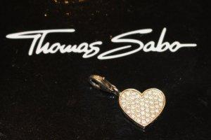 THOMAS SABO CHARM Herz mit Zirkonia 925er Silber