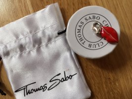 Thomas Sabo Dije color plata-rojo