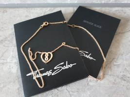 Thomas Sabo Collier, Halskette Infinity Herz, Silber rosévergoldet