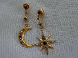 Thomas Sabo Ohrringe Stern & Mond Sterlingsilber 750iger Gold