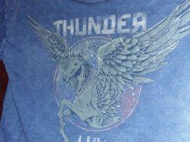 Thunder Luv Top Pegasus Einhorn Flügel Fabelwesen Blau Grausilber 36