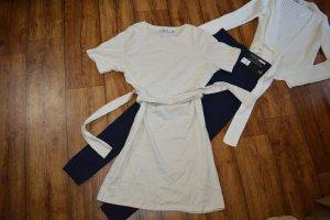 Tie Waist T-shirt Kleid Gr. 38 Nakd beige