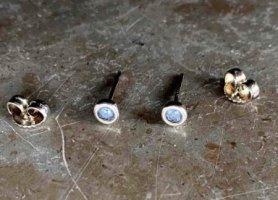 Tiffany&Co Clou d'oreille argenté-turquoise