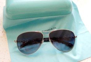 Tiffany&Co Occhiale da pilota argento-blu scuro