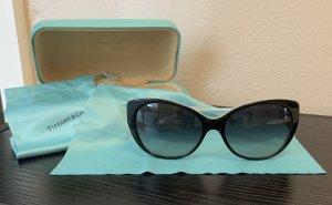 Tiffany&Co Lunettes de soleil ovales noir-bleu clair
