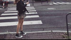 Vero Moda Spódnica z wysokim stanem jasnobrązowy-czarny