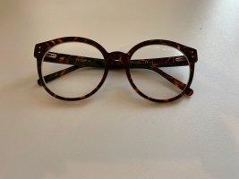tijn eyewear Glasses cognac-coloured-black brown acetate