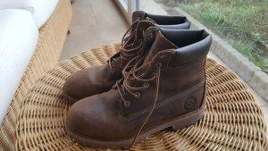 Timberland Stivale stringato marrone-marrone scuro