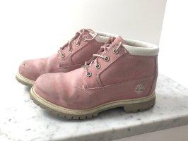 Timberland Botas con cordones rosa-rosa claro