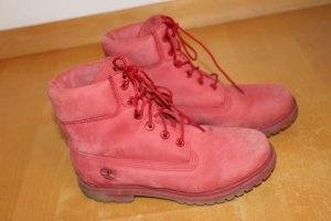 Timberland Snow Boots red leather