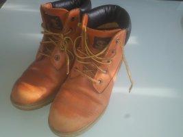 Timberland Boots Stiefel Stiefelette Leder 37,5 orange braun