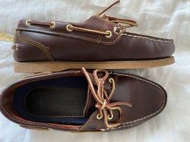 Timberland Zapatos de marinero marrón oscuro