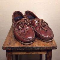 Timberland Zapatos de marinero rojo amarronado Cuero