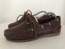 Timberland Zapatos de marinero marrón oscuro-marrón