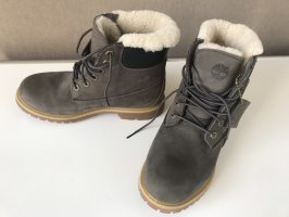 Timberland Botas de piel gris