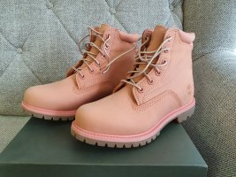 Timberland Damen Gr. 39,5 Waterville Pink Nubuck Boots Stiefel neu rosa Leder