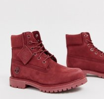 Timberland Lace-up Booties dark red leather