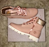 Timberland Neue hohe Lederschuhe in Pink